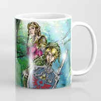 legend of zelda Mugs featuring The Legend of Zelda by MarioRojas