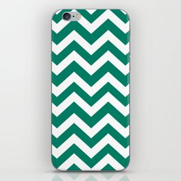 Generic viridian - green color - Zigzag Chevron Pattern iPhone Skin