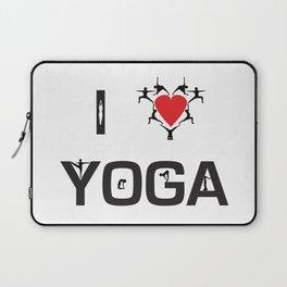 I heart Yoga Laptop Sleeve
