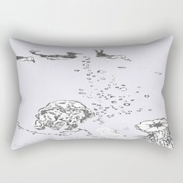 Two Tailed Duck and Jellyfish Lavender Rectangular Pillow