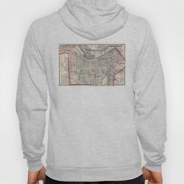 Vintage Map of Louisville Kentucky (1884) Hoody