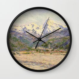 Claude Monet - The Valley of the Nervia (1884) Wall Clock