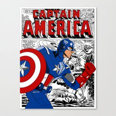 Captain 'merica Comic Canvas Print