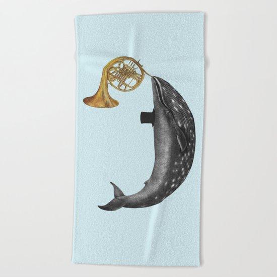 Whale Song - colour option Beach Towel