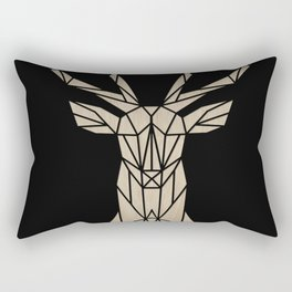 Wooden polygon deer Rectangular Pillow