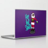 hip hop Laptop & iPad Skins featuring Hip Hop Santa by Chelsea Herrick