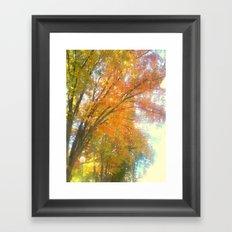 Dripping Trees Framed Art Print