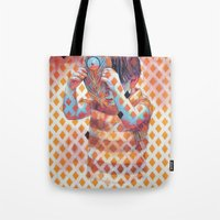 third eye Tote Bags featuring Third eye by Cristian Blanxer