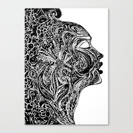 Emerging Face Canvas Print