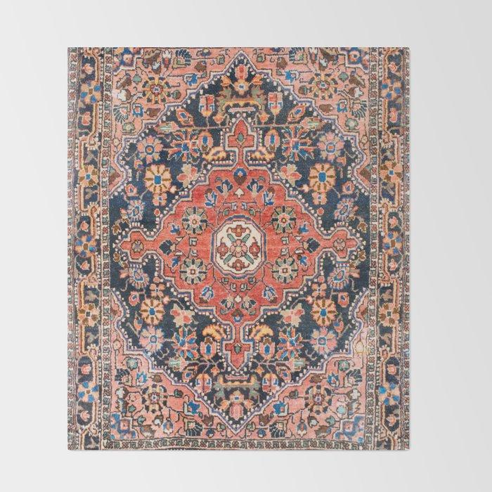 Djosan Poshti West Persian Rug Print Throw Blanket