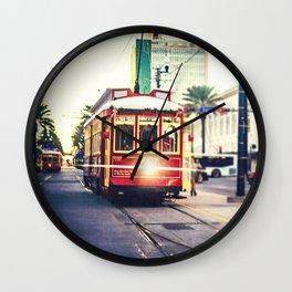 New Orleans Streetcar Wall Clock