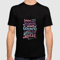 Kindness, Goodness, & Magic Mens Fitted Tee MEDIUM Black