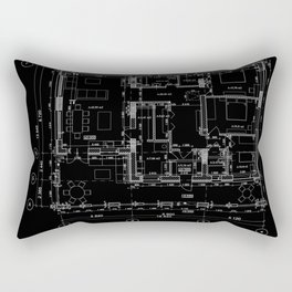 Detailed architectural private house floor plan, apartment layout, blueprint. Vector illustration Rectangular Pillow