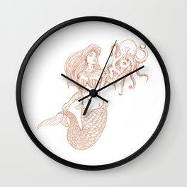 Mermaid (Nautical Collection) - Bronze Wall Clock