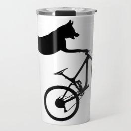 funny MTB mountain bike cycling dog lover gift Travel Mug