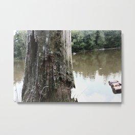 Old Tree at Lake Metal Print