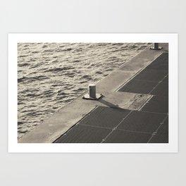 Sea Pier Geometry Art Print