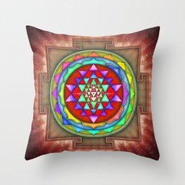 Sri Yantra VII.VIII Throw Pillow