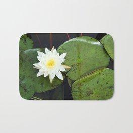 A Single Water Lily Bath Mat