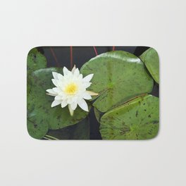 A Single Water Lily Bath Mat