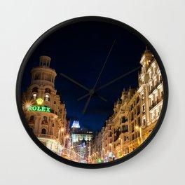 Madrid streets Wall Clock