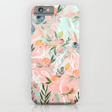Abstract painting of flowers and plants iPhone 6 Slim Case