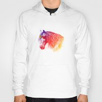 horse Hoodies featuring horse  by mark ashkenazi
