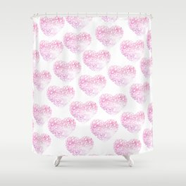 Blush pink watercolor abstract watercolor hearts pattern Shower Curtain