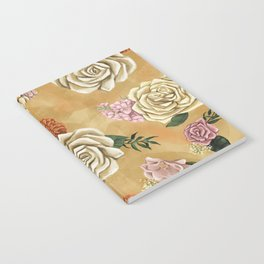Gold luxury floral Notebook