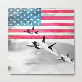 Air Force USA USAF Metal Print