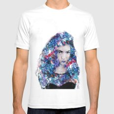 Lorde MEDIUM White Mens Fitted Tee