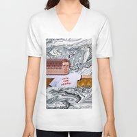 napoleon V-neck T-shirts featuring Napoleon  by elluce