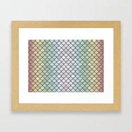 New Rainbow Mermaid Scales Framed Art Print