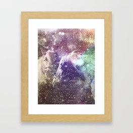 We could all be friends Framed Art Print