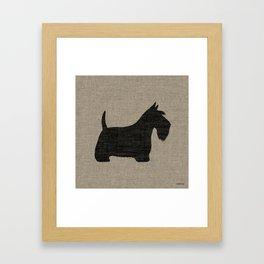 Scottish Terrier Scottie Silhouette Framed Art Print