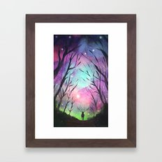 Spindly Branches Framed Art Print