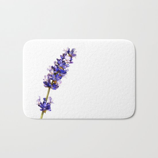 Mediterranean Lavender on White Bath Mat