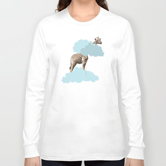 Giraff in the clouds . Joy in the clouds collection Long Sleeve T-shirt
