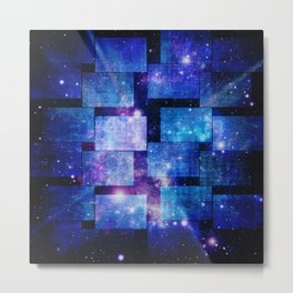Patched Blue Night Sky Metal Print