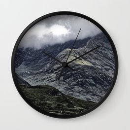 Glencoe in Scottish Highlands. Wall Clock