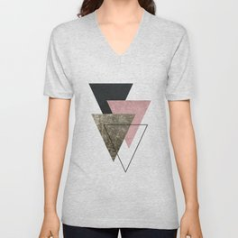 Modern Abstract Triangle 2 Unisex V-Neck
