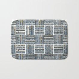 The Bookish Checkerboard Bath Mat