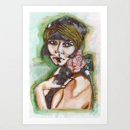 Flapper Girl Art Print