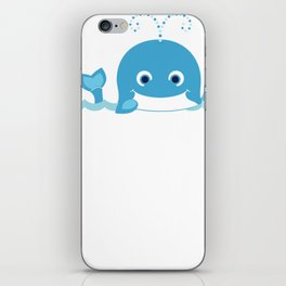 Whale Happy Whale Waving iPhone Skin
