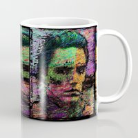 christopher walken Mugs featuring Walken Around Town by brett66