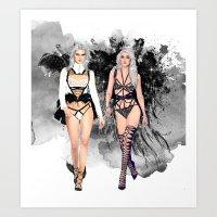 Dark Angels Art Print