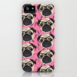 Uptown Pug iPhone Case