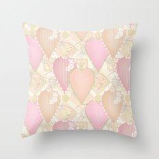 Retro . Valentine's Day . Throw Pillow