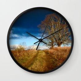 Road to the Storm Wall Clock