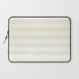 Narrow Horizontal Stripes - White and Beige Laptop Sleeve